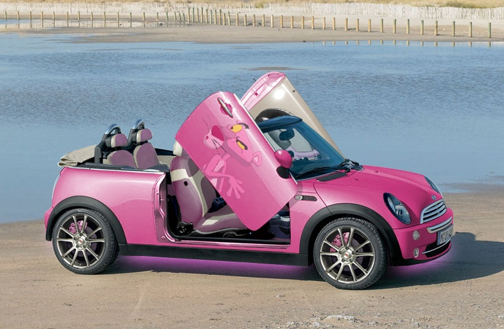 modified pink panther mini cooper mini coopers pinterest minis pink and panthers. Black Bedroom Furniture Sets. Home Design Ideas