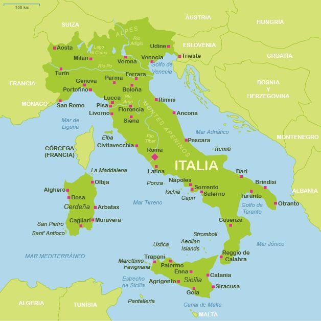 República Italiana        Capital Roma 59.433.744 habitantes (2011) Idioma Italiano Moneda Euro (EUR)