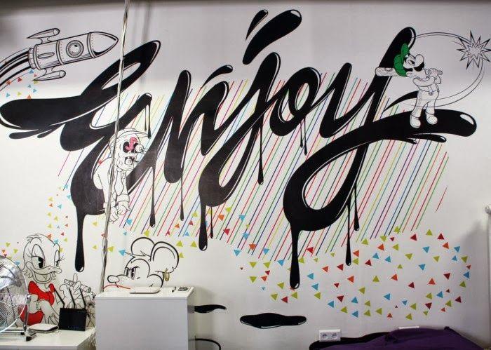 """Pixers muurschildering """"Enjoy"""""""