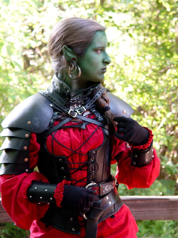 Orc LARP chick (outfit reference) | Larp, Dagohir ... | 576 x 768 jpeg 156kB