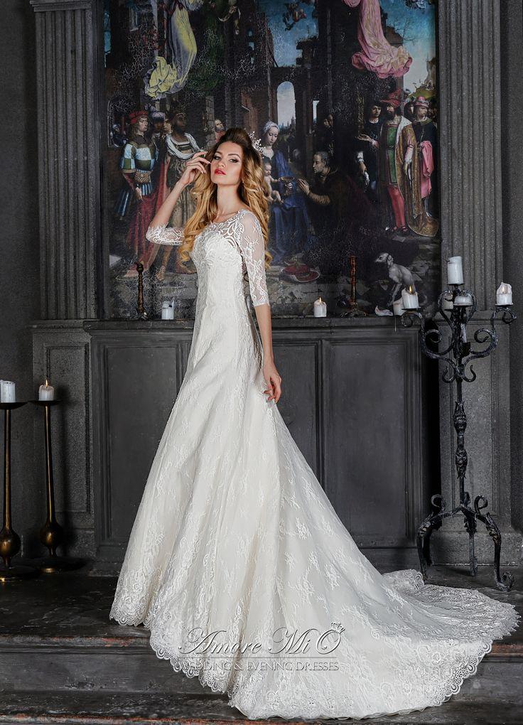 Свадебное платье Алисия, шлейф купить в Москве - интернет-магазин Аморе МиО