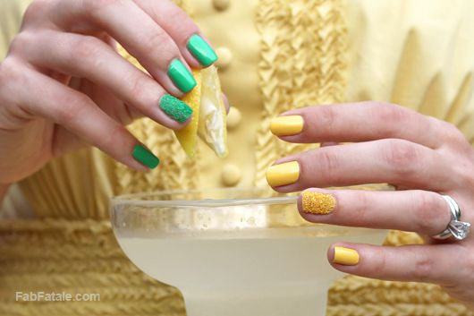 Caviar Nails Manicure - Lemon Lime