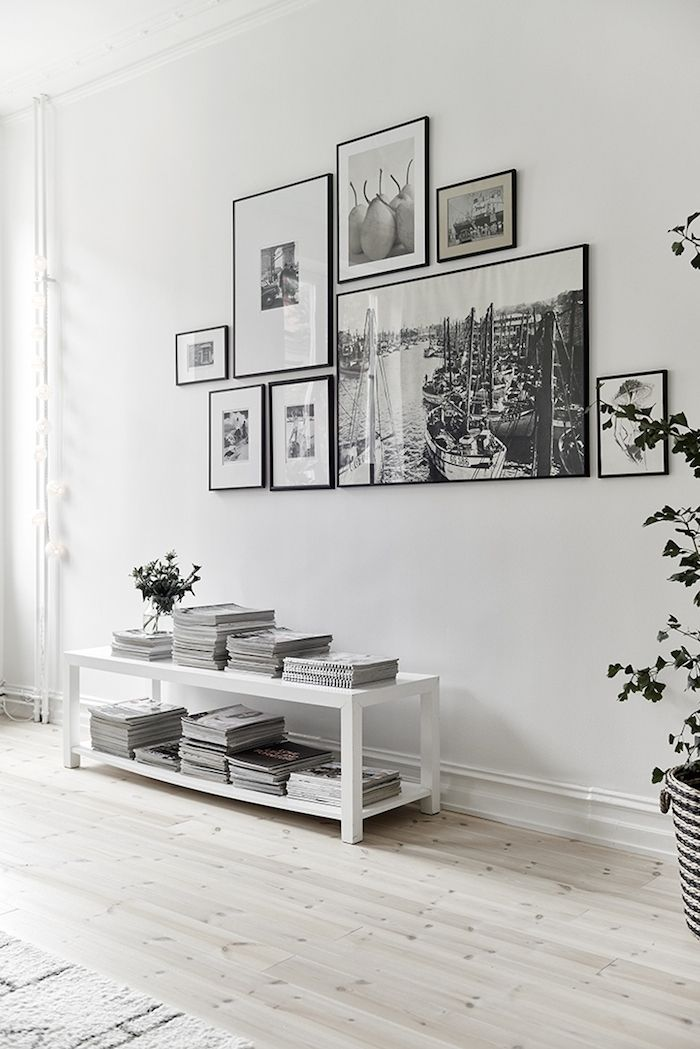 Black frames on White walls