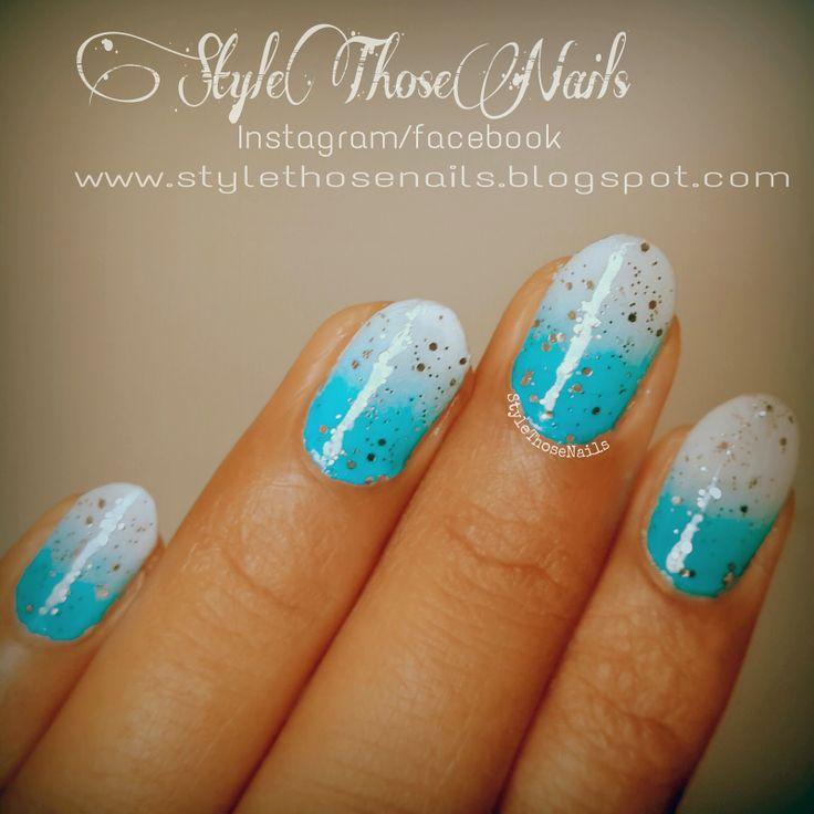 Style Those Nails http://stylethosenails.blogspot.com/2014/04/weekend-manicure-2-paint-it-blue.html #autismawarenessnails #paintitblue