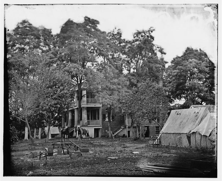 House used as a Headquarters by General George B. McClellan and General P. G. T. Beauregard - Fairfax Court House, VA
