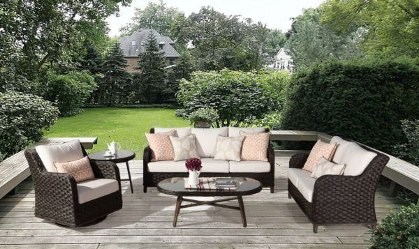 Grand Isle Outdoor 5 Pc Wicker Set By South Sea Rattan 77400