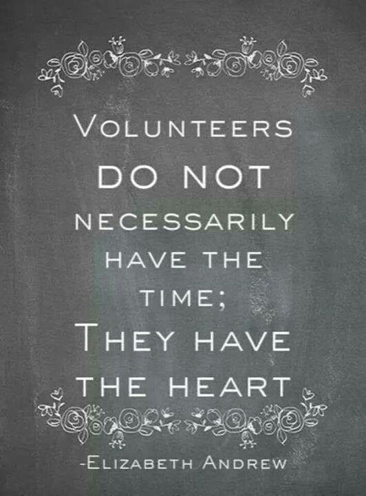 Make time to volunteer because it is important to give back to the community