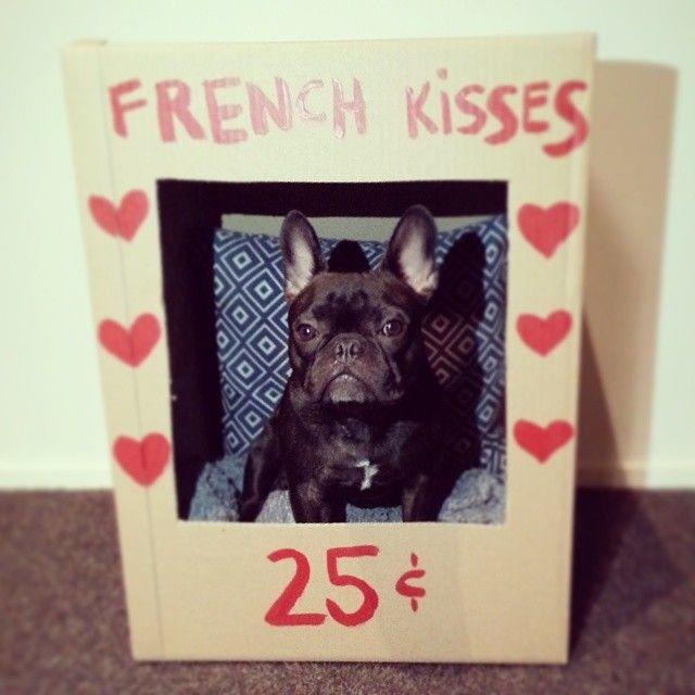 We always love Frenchie kisses! Shoutout to @itsbradleybear