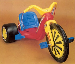 Big Wheel - me and my brother LOVED zooming around on these! These things could really take a beating too - our entire neighbourhood would use it lol