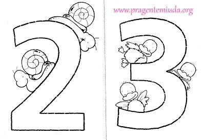 Números Coloridos para imprimir | Pra Gente Miúda
