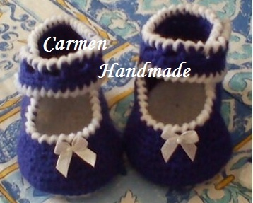 My lovely crochet : Vestina e scarpine per una bimba 3-6 mesi