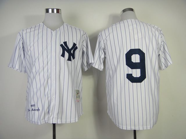 Men's MLB New York Yankees #9 Roger Maris White Jersey