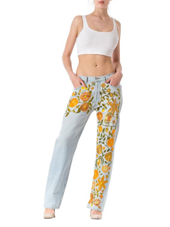 Vintage 1990s style Levis Hippie Boho Floral by MORPHEWCONCEPT