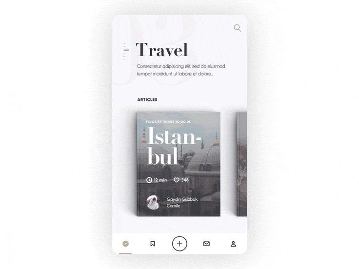 Mobile Blog App Interaction by Alper Tornaci