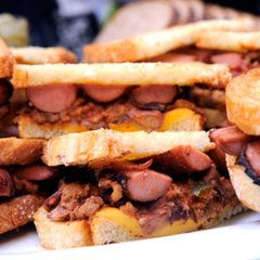 What happens when you cross left over hot dogs and chili? You get a hot dog chili sandwich! Jessica Tingler from St. Joseph, Missouri came up with the sandwich when that is all she could find in the fridge one day.