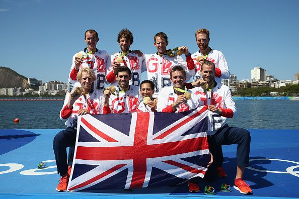 Team GB's men's rowing eight win Gold at Rio 2016