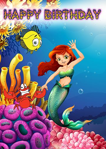 Sea Life Birthday 2 - Splash Of Color