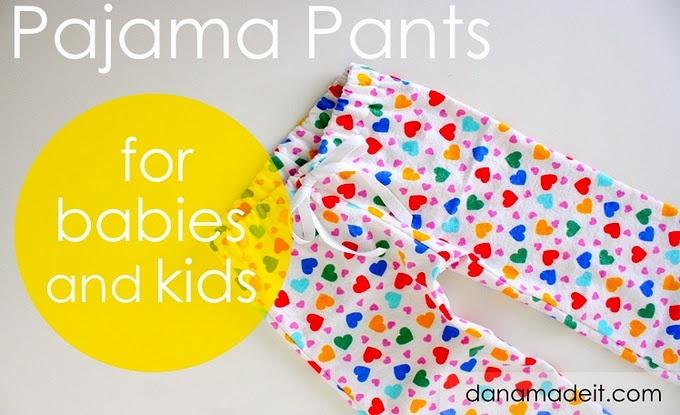 TUTORIAL: PJ Pants for Babies and KidsSewing Projects, For Kids, Pants Tutorials, Kids Fashion, Pajamas Pants, Baby, Sewing Machine, Pajama Pants, Pj Pants