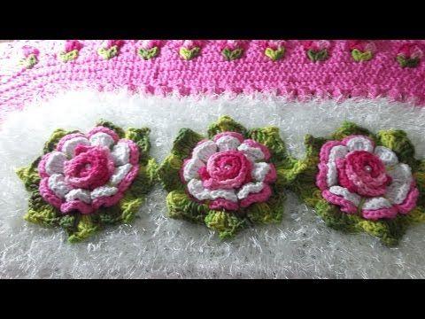 VIDEO AULA: BOTOES DE ROSA EMBUTIDOS NO TAPETE( tulipas) pelo pap da amiga ALEXANDA FERREIRA - YouTube