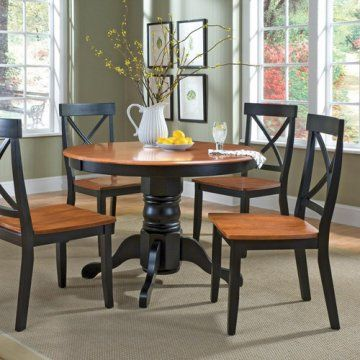 Home Styles 5 pc. Black & Cottage Oak Dining Set