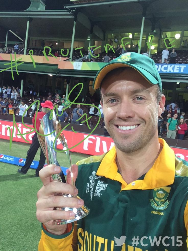 AB De Villiers and his #ProteaFire is of course the Player of the Match! The Best #TwitterMirror of #cwc15 so far?