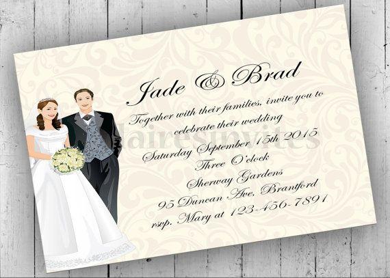 Wedding Invitation Printable Bridal by PartyPrintableInvite