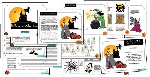 Geisterjagd, Hexen, das Frankenstein Monster und andre gruselige Gesellen im Halloweenrätsel #schnitzeljagd