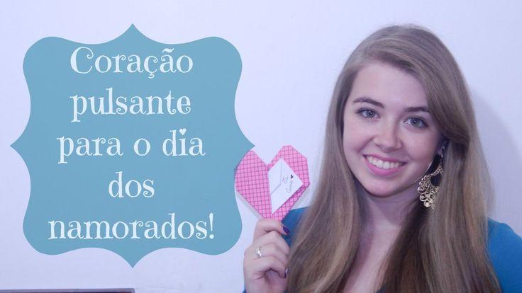 Cartão para o dia dos namorados - Coração Pulsante de origami ♥