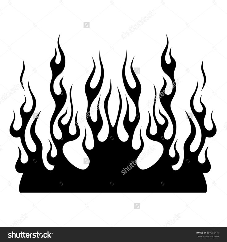 Flame Vector Tribal Black Tribal Flame Stock Vector 397789474 ...