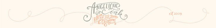 unique calligraphy services and handlettered goods by AngeliqueInk