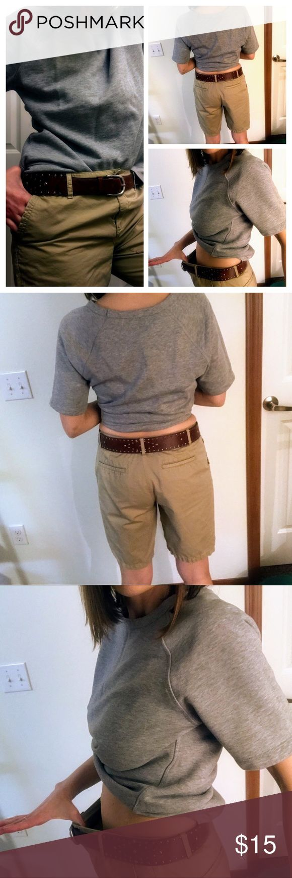 "• Bermuda Shorts • excellent preloved condition • size 8, modeling to show fit and length. I am size 6 and 5'8"" • this length works for so many body types and occasions.. spring and summer closet staple    Tags: Tan Khaki hiking outdoors minimalist spring shorts classic boating nautical preppy Shorts Bermudas #summeroutdoorfitness"