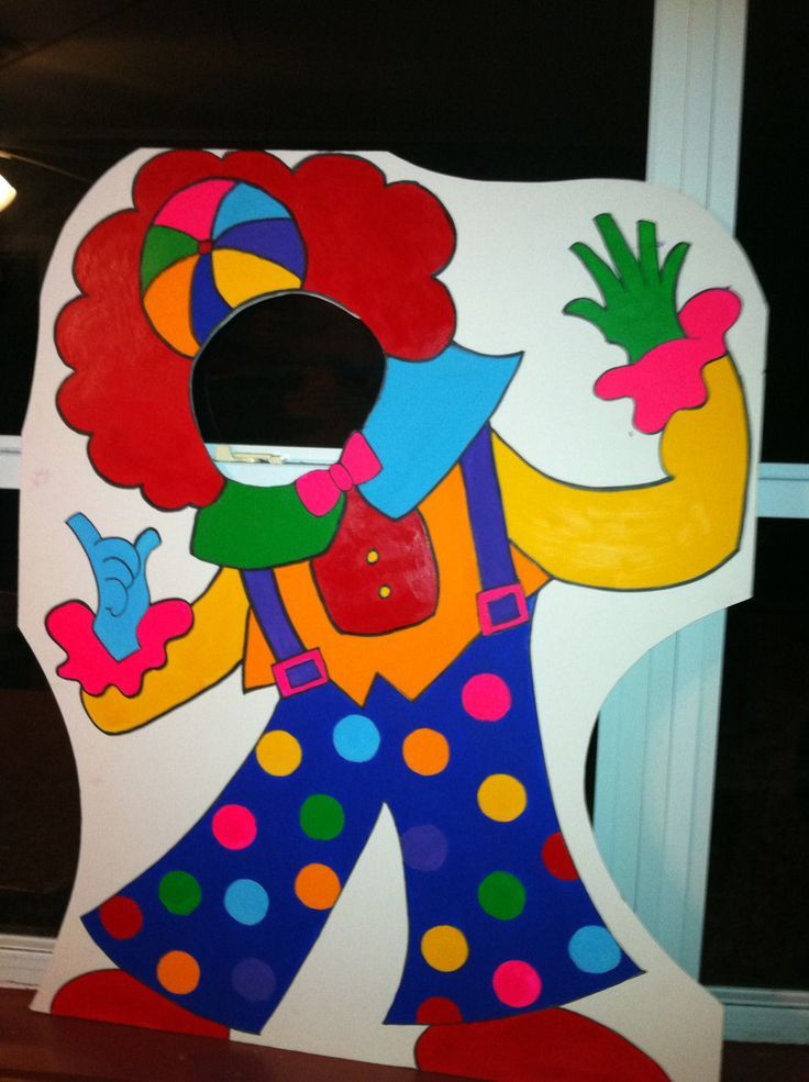 themed photography props   Circus or Carnival Themed Party Photo Props - Clown Event Photo Prop