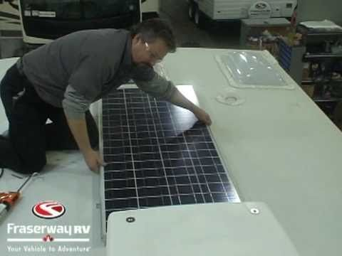 Step by step installation of a solar panel on a RV.