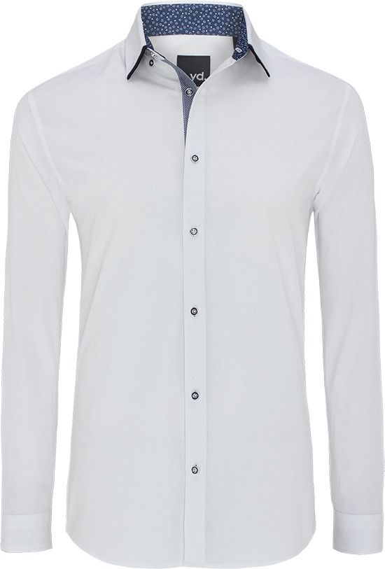 Euro Floral Trim Slim Fit Shirt