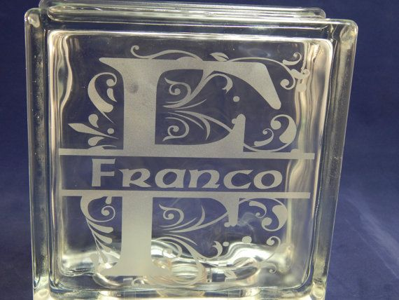 Etched Glass Blocks by MagicallyEtched on Etsy, $20.00