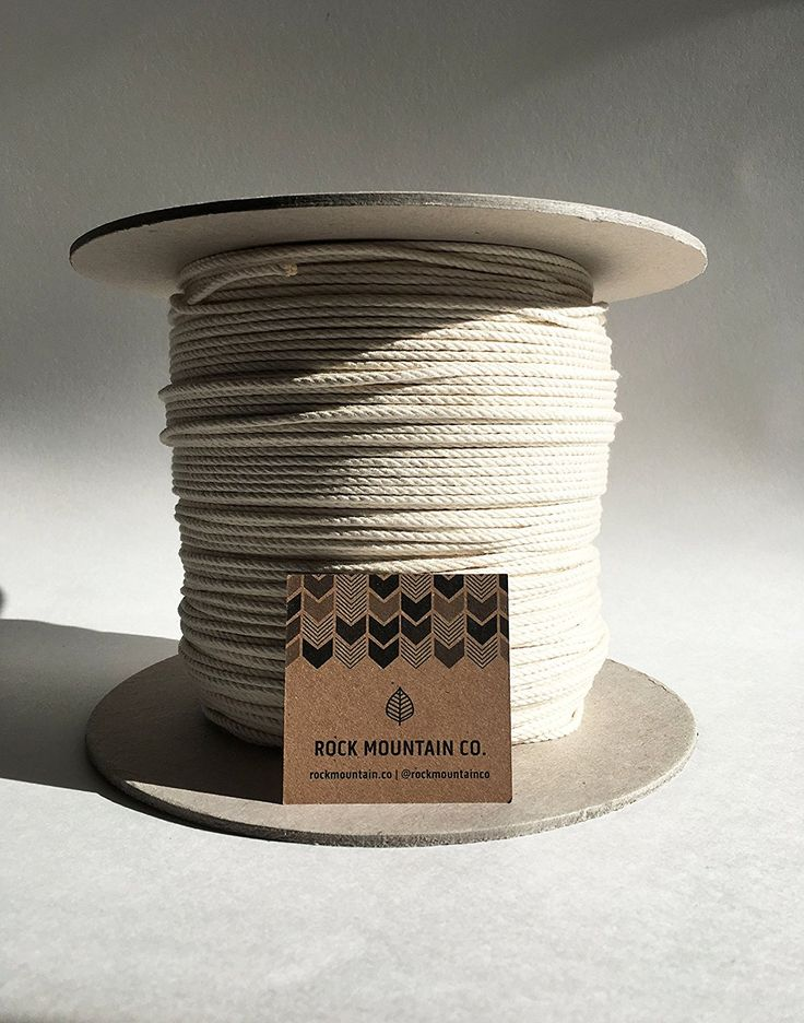 Rock Mountain Co. Macrame Cord | 3mm 4 Strand | Natural RAW 100% Cotton | Fiber Art Rope ↟◭