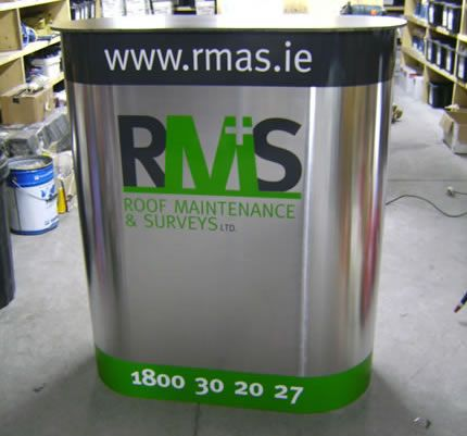 Project: Exhibition stand Client: RMAS, Co. Mayo, Ireland.