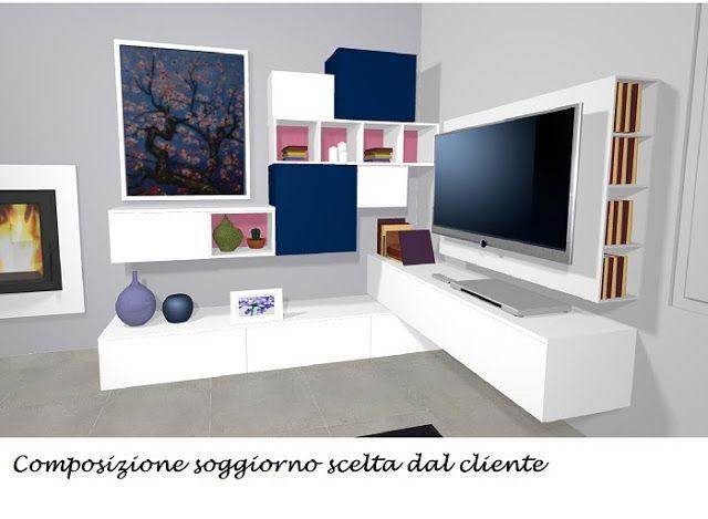 Composizione soggiorno ~ Best soggiorno images tv storage tv walls and