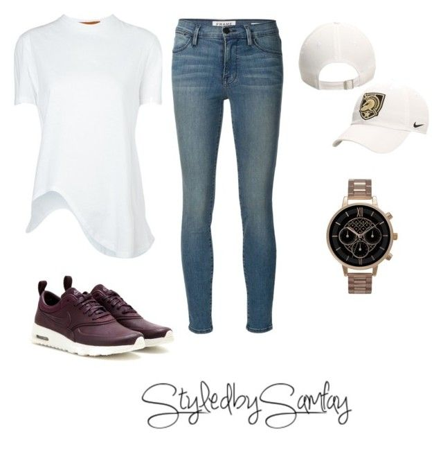 """Untitled #67"" by styledbysamfay on Polyvore featuring Frame Denim, Coperni Femme, NIKE and Olivia Burton"