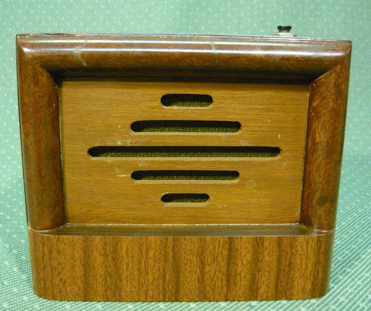 Vintage Wood Executive Office Desk Intercom Speaker