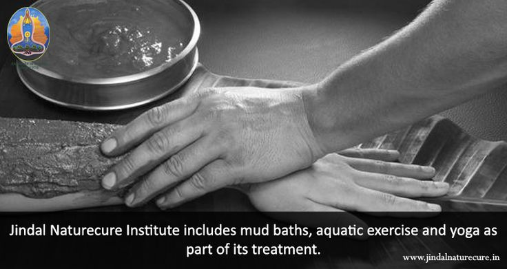 A #mudbath is extremely helpful when you wish to de-stress and get relief from joint and muscle pains. Improved circulation, balanced pH levels and a softer skin are also some of the benefits of having a mud bath! Jindal Naturecure Institute includes mud baths, aquatic exercise and yoga as part of its treatment. #NaturopathyTreatment