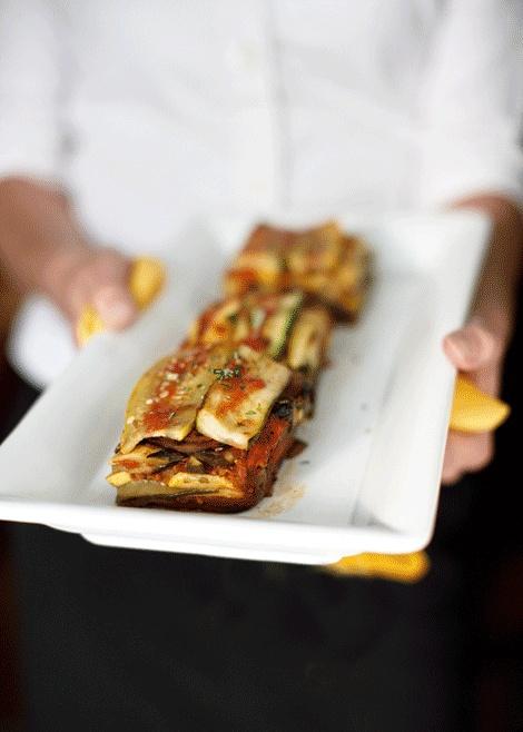 Roasted Ratatouille Lasagna Napoleons Recipe — Dishmaps