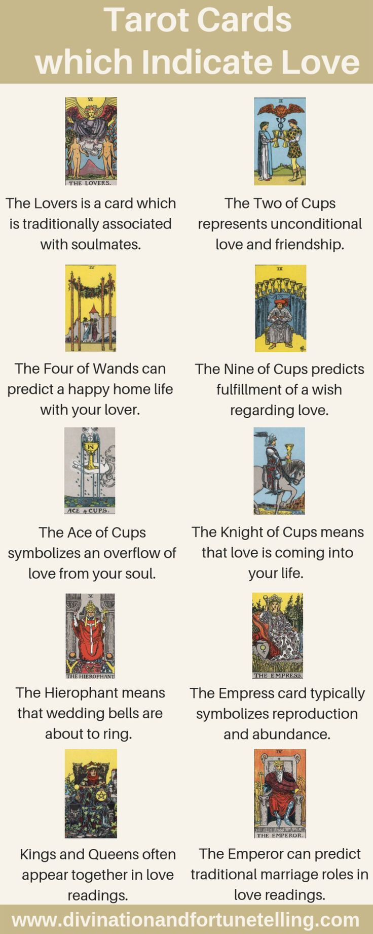Tarot Cards Which Indicate A Potential For Love Tarot Learning