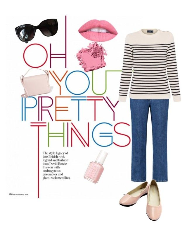 """""""Polyvore - Cristina's Style No. 4 - Nautical & Pinks"""" by merriquemayfair on Polyvore featuring Être Cécile, Saint James, Dolce&Gabbana, Bobbi Brown Cosmetics and Chanel"""