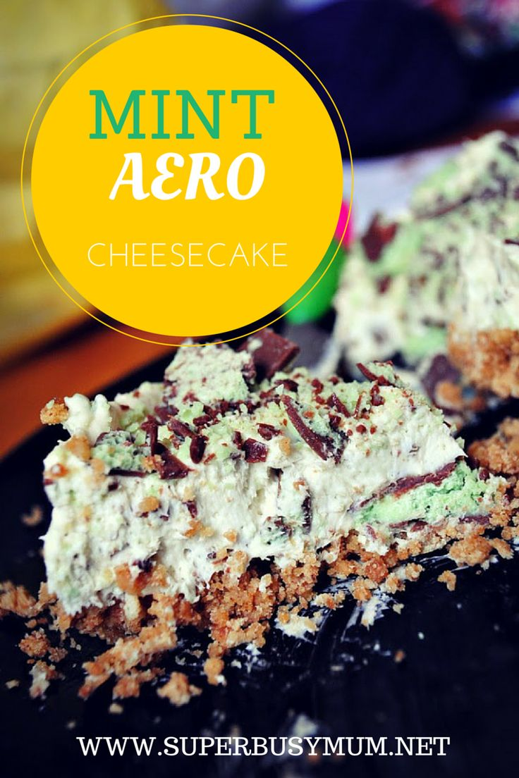 Mint aero cheesecake graphic