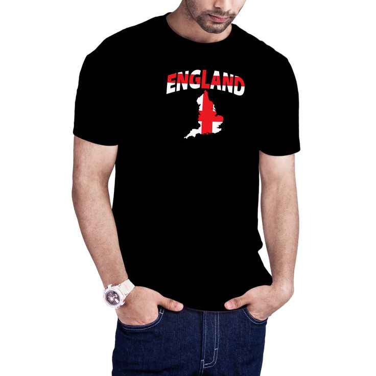 Men's English Flag Map t-shirt England t-shirt by Calidreamers on Etsy