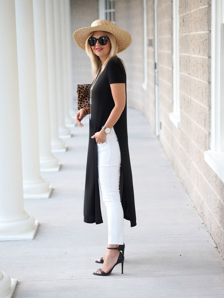Modern chic. This is the only way I'd style a long top like this.