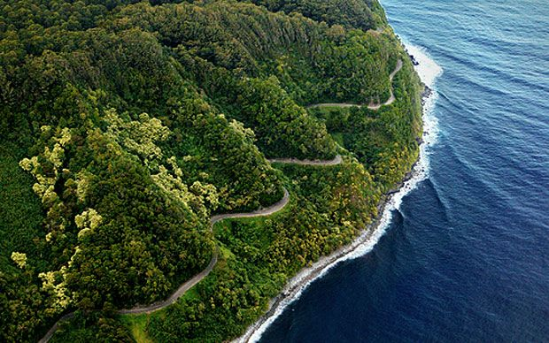 The scenic road to Hana is one of the top tourist attractions on the Hawaiian Island of Maui. Description from allwonders.com. I searched for this on bing.com/images
