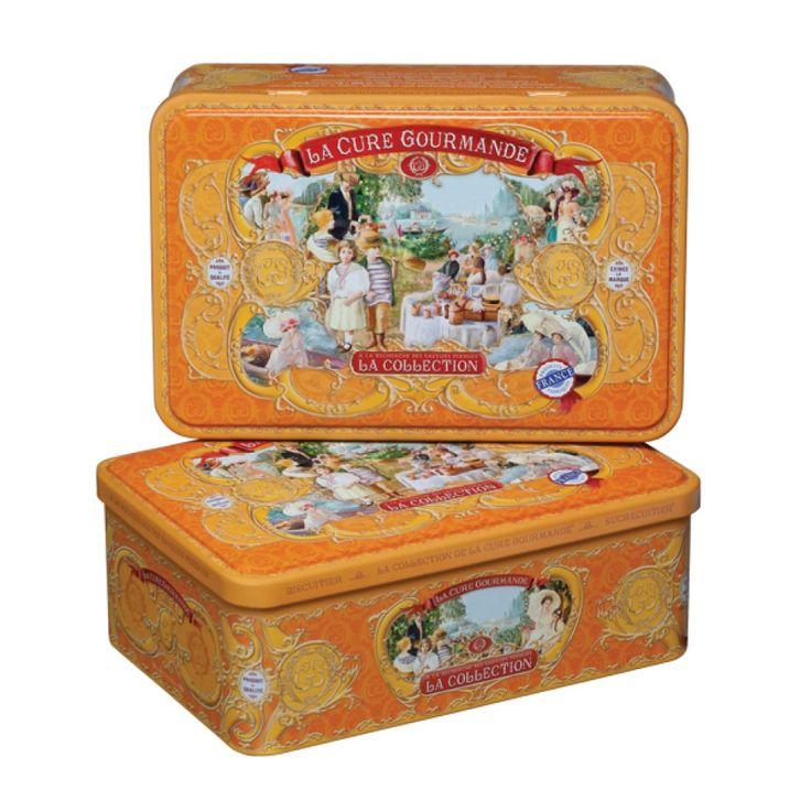 Boîte Biscuits Métal Abricot | La Cure Gourmande