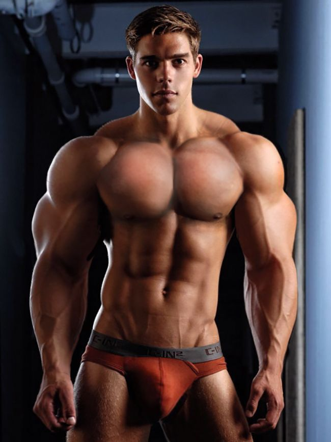 Naked sexy muscle boy — photo 10